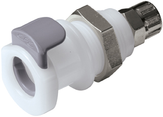1/4 PTF Non-Valved Panel Mount Coupling Body