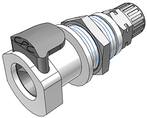 10mm PTF Non-Valved Panel Mount Coupling Body
