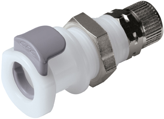 8mm PTF Non-Valved Panel Mount Coupling Body