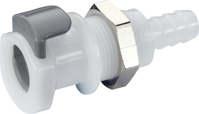 5/16 Hose Barb Non-Valved Panel Mount Coupling Body