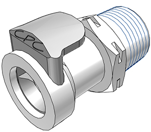 3/8 BSPT Valved Coupling Body