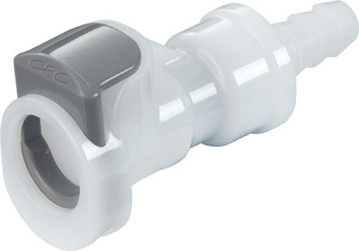 1/4 Valved In-Line Coupling Body with Shroud (APCD17004SH NSF)