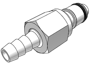 1/4 Hose Barb Valved In-Line Coupling Insert (APCD22004 NSF)