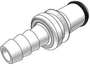 1/4 Hose Barb Non-Valved In-Line BreakAway Coupling Insert