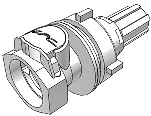 Panel Mount Coupling Body, 1/4 Flare