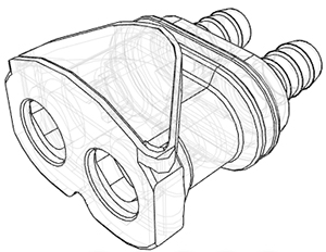 3/8 Hose Barb Valved In-Line Panel Mount Coupling Body