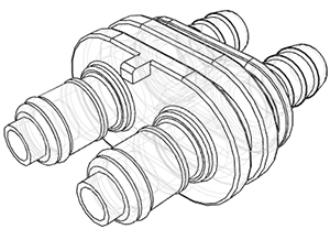 3/8 Hose Barb Valved In-Line Coupling Insert