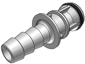 1/4 Hose Barb Non-Valved In-Line Coupling Insert