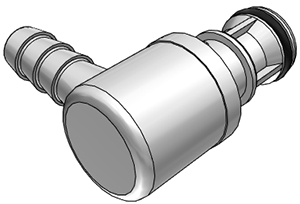 3/8 Hose Barb Non-Valved Elbow Coupling Insert