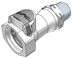 1/2 BSPT Non-Valved Coupling Body