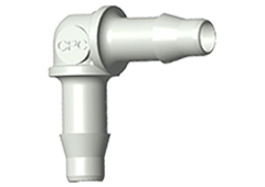 "Elbow A-Barb Fitting, 1/8"" HB x 1/8"" HB, Polypropylene"