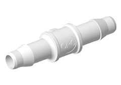 "Straight A-Barb Fitting, 3/32"" HB x 3/32"" HB, White Nylon"