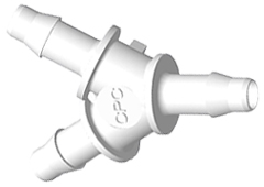 "Y  A-Barb Fitting, 3/32"" HB x 3/32"" HB x 3/32"" HB, White Nylon"
