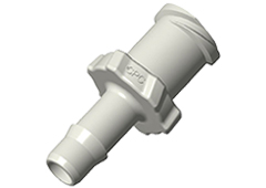 "Luer A-Barb Fitting, 5/32"" HB x Female Luer, Natural Polypropylene"