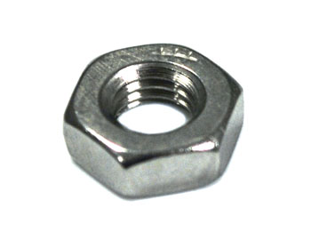 Panel Mount Nut, 1/4-28 UNF,  Stainless Steel