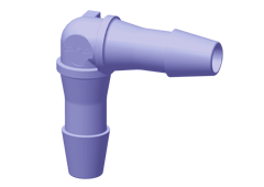 Elbow Fitting, 1/4 HB X 1/4 HB, Purple Tint Polycarbonate