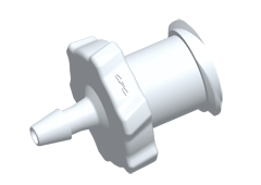 Luer Fitting, Female Luer 1/16 HB, Natural PVDF