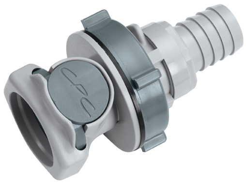 5/8 Hose Barb Non-Valved Panel Mount Coupling Body