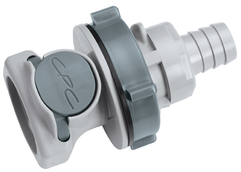 1/2 Hose Barb Non-Valved Panel Mount Coupling Body (HFC16812 NSF)