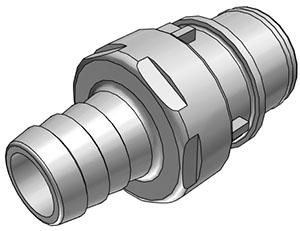 1/2 Hose Barb Non-Valved In-Line Coupling Insert