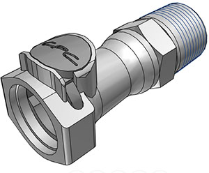 3/4 NPT Valved Coupling Body