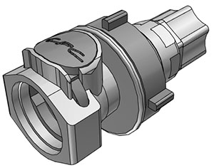3/8 Compression Valved Panel Mount Coupling Body