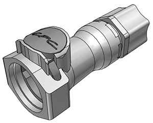 1/2 JACO Valved In-Line Coupling Body