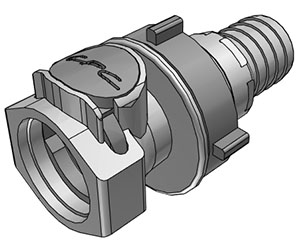 3/4 Hose Barb Valved Panel Mount Coupling Body