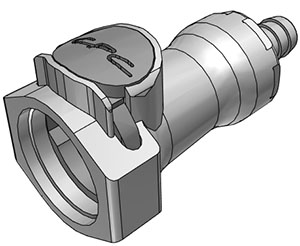 3/8 Hose Barb Valved In-Line Coupling Body