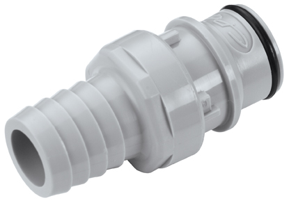 5/8 Hose Barb Valved In-Line Coupling Insert (HFCD221012 NSF)