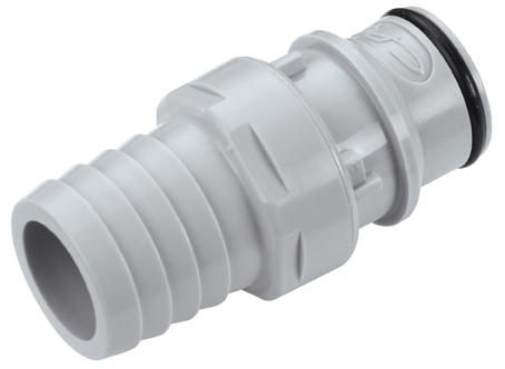 3/4 Hose Barb Valved In-Line Coupling Insert (HFCD221212 NSF)