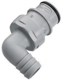 1/2 Hose Barb Valved Elbow Coupling Insert (HFCD23812 NSF)