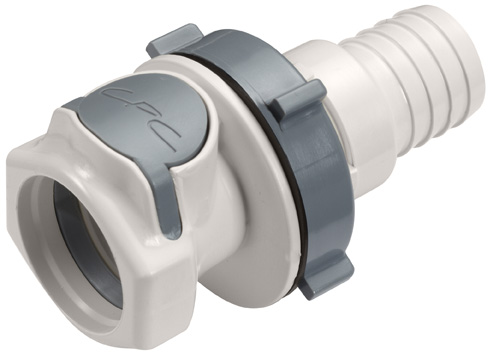 3/4 Hose Barb Non-Valved Panel Mount Coupling Body