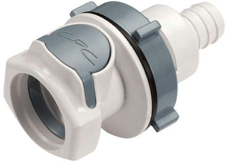 1/2 Hose Barb Non-Valved Panel Mount  Coupling Body (HFC16835 NSF)