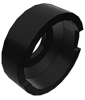 "1/4"" John Guest Collet Cover - Black"