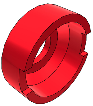 "1/4"" John Guest Collet Cover - Red"