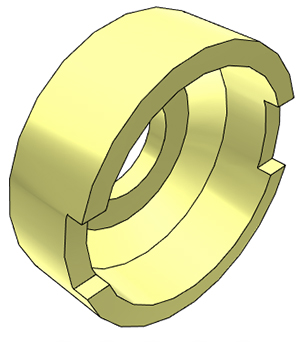 "1/4"" John Guest Collet Cover - Yellow"