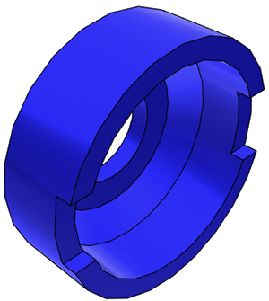 "1/4"" John Guest Collet Cover - Blue"