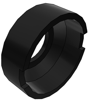 "3/8"" John Guest Collet Cover - Black"
