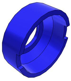 "3/8"" John Guest Collet Cover - Blue"