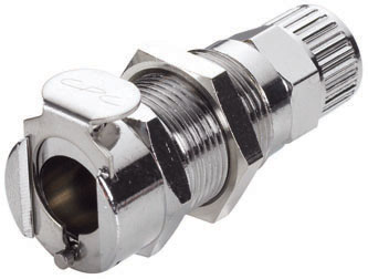 3/8 PTF Non-Valved Panel Mount Coupling Body