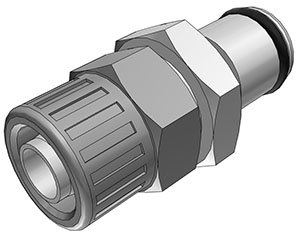 3/8 PTF Non-Valved In-Line Coupling Insert