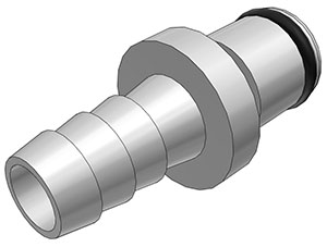 5/16 Hose Barb Non-Valved In-Line Coupling Insert
