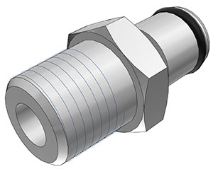 1/4 BSPT Non-Valved Coupling Insert  (LC24004BSPT NSF)