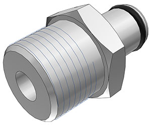 3/8 BSPT Non-Valved Coupling Insert  (LC24006BSPT NSF)