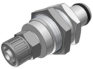 1/4 PTF Non-Valved Panel Mount Coupling Insert  (LC40004 NSF)