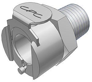 1/4 BSPT Valved Coupling Body