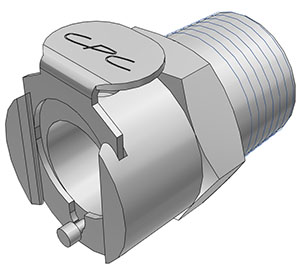 3/8 BSPT Non-Valved Coupling Body  (LC10006BSPT NSF)