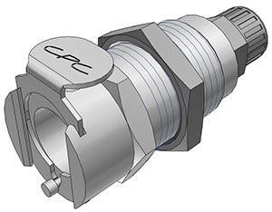 1/4 PTF Valved Panel Mount Coupling Body  (LCD12004 NSF)