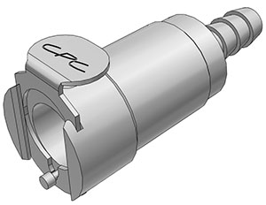 1/4 Hose Barb Valved In-Line Coupling Body  (LCD17004 NSF)